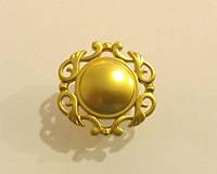 Ручка кнопка классическая GU-W6202 матовое золото, фото 1