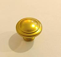 Ручка кнопка классическая GU-W7017 золото матовое, фото 1
