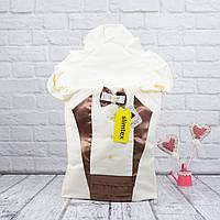 """Демисезонный конверт в роддом """"Аристократ"""" (шоколад)"""