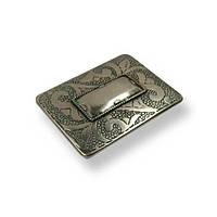 Ручка скоба мебельная  SIR2006-91ZN29 античное серебро, 32 мм, фото 1