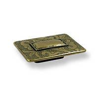 Ручка скоба мебельная  SIR2006-91ZN10 античная бронза, 32 мм