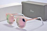 Солнцезащитные очки круглые Dior розовые, фото 1