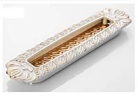 Ручка врезная современная классика RT-YJ-5822-G слоновая кость с золотом, 128 мм, фото 1