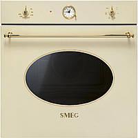 Многофункциональный духовой шкаф Smeg SF800P бежевый + позолота
