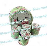 Подарочные коробки жестяные круглые набор 5шт