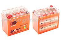 Аккумулятор 12V 12А гелевый OUTDO (150x85.8x131.4 мм, оранжевый, mod:YTX 12-BS)