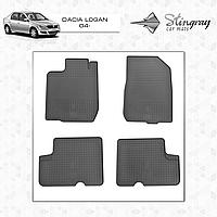 Коврики резиновые в салон Dacia Logan c 2004- (4шт) Stingray