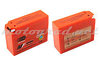Аккумулятор 12V 2,3А гелевый, Suzuki OUTDO (113x39x89 мм, оранжевый, mod:YT4B-5)