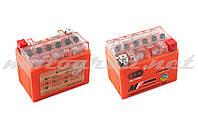 Аккумулятор 12V 4А гелевый OUTDO (114x71x88 мм, оранжевый, mod:YTX4L-BS)