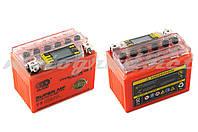 Аккумулятор 12V 4А гелевый OUTDO (114x71x88 мм, оранжевый, с индикатором заряда, вольтметром)
