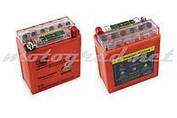 Аккумулятор 12V 5А гелевый (высокий) OUTDO (119x60x128 мм, оранжевый, с индикатором заряда)