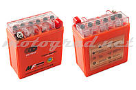 Аккумулятор 12V 5А гелевый (высокий) OUTDO (119x60x128 мм, оранжевый, mod:YTX5AL-BS)