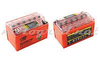 Акумулятор 12V 7А гелевий OUTDO (150x85x95 мм, помаранчевий, з індикатором заряду, вольтметром)