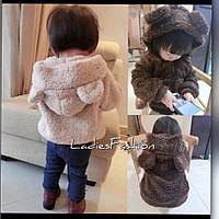 Куртка детская с ушками, ткань махра, 2 расцветки фото реал ,супер качество ал №08263