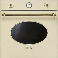 Многофункциональный духовой шкаф Smeg SF800PO бежевый + латунь