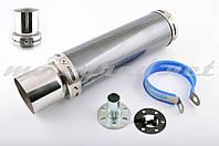 Глушитель (тюнинг) 300*90mm, креп. Ø48mm (нержавейка, карбон mod:1, прямоток, тип:5)
