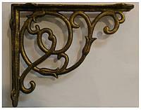 Менсолодержатель для деревянных полок WKK-DECORIA-AB, античная бронза 215x185 мм