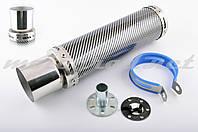 Глушитель (тюнинг)   300*90mm, креп. Ø48mm   (нержавейка, карбон mod:2, прямоток, тип:5)