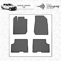Коврики резиновые в салон Dacia Logan c 2013- (4шт) Stingray