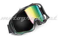 Очки маска сноубордическая KML (mod:WL-EC011, черные, стекло хамелеон)