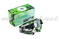 Очки маска лыжные MONSTER-ENERGY (mod:1, с прозрачным стеклом)