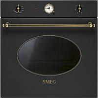 Многофункциональный духовой шкаф Smeg SF800AO антрацит + латунь