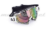 Очки маска кроссовые MOTSAI (mod:A1, стекло хамелеон)