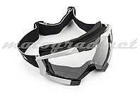 Очки маска кроссовые (mod:MJ-1017, черные, прозрачное стекло)