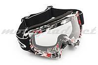 Очки маска кроссовые (mod:MJ-16A2, прозрачное стекло)