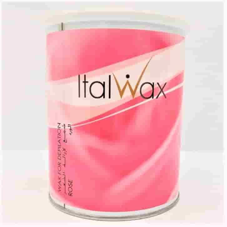 """Теплый, плотный кремовый воск для депиляции с тальком в банке """"Розовый"""", 800 мл ItalWax"""