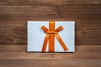 Книга пожеланий на свадьбу с оранжевой лентой