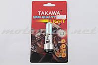 Лампа BA20D (2 уса) 12V 18W/18W (хамелеон радужный) TAKAWA (mod:A, блистер)