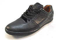 Туфли мужские ECCO кожаные, черные (еко)(р.41,43)