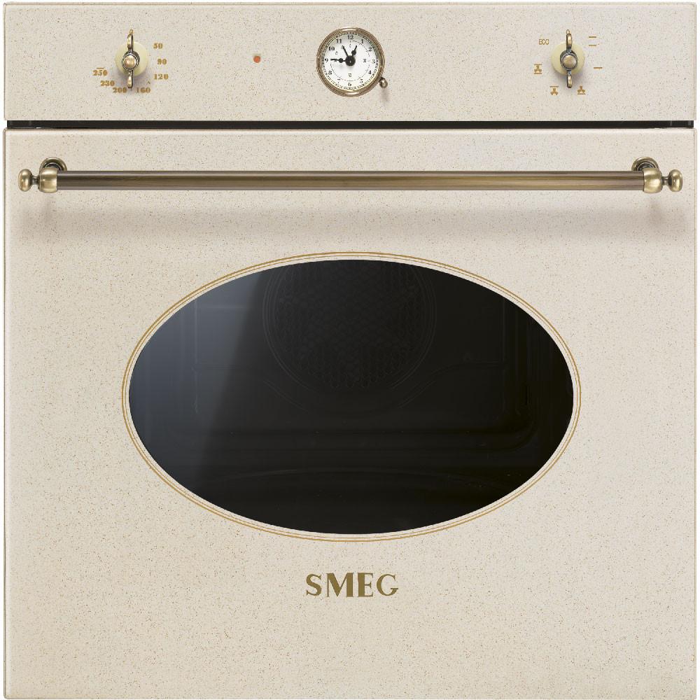 Духовой шкаф Smeg SF800AVO светло-коричневый + латунь