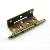 Петля карточная мебельная  ZM-CD-229-28-AB бронза антик, 92х23 мм, фото 1