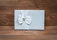 Свадебная книга пожеланий с жемчужинкой