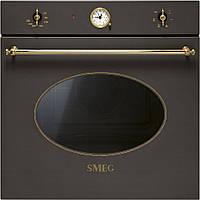 Многофункциональный духовой шкаф Smeg SF800C чугунно-серый + позолота