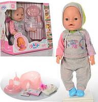 Кукла Пупс Baby Born (Беби Борн) BB 8009-445B. 42 см, 9 функций, 9 аксессуаров