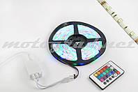 Лента светодиодная SMD 5050 (RGB, влагостойкая, 30 крист/1м, бухта 5м) (+ RGB-контроллер)