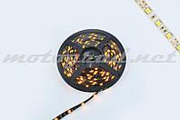 Лента светодиодная SMD 5050 (желтая, влагостойкая, 30 крист/1м, бухта 5м)