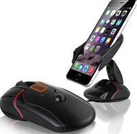 """Тримач автомобільний складаний компактний для смартфона або навігатора до 6.5-7"""" або 95мм ЧОРНИЙ SKU0000628, фото 1"""