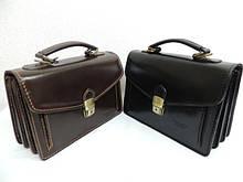 Чоловічі барсетки, сумки з натуральної шкіри