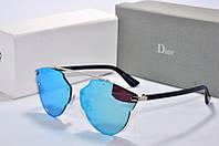 Солнцезащитные очки фигурные Dior So Real голубое зазеркалье