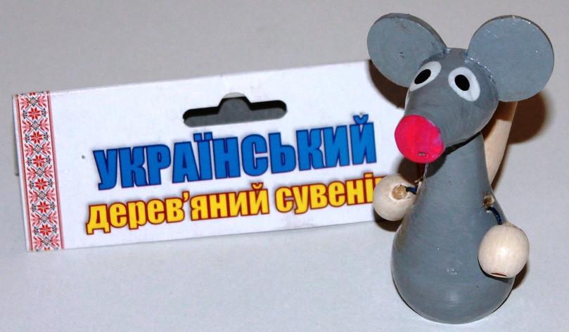 Деревянная игрушка Свистулька цветная