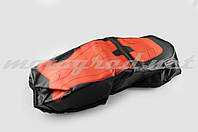 Чехол сиденья Alpha, CG (черно-красный, KOSO) SOFT SEAT (#0003)