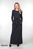 Длинное платье с карманами Арина