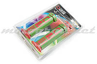Ручки руля (грипсы) DBS (mod:1, зелено-красные) (#YMBT)
