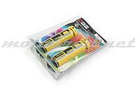 Ручки руля (грипсы) DBS (mod:1, желто-черные) (#YMBT)