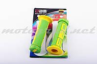 Ручки руля (грипсы) DBS (mod:1, зелено-желтые)