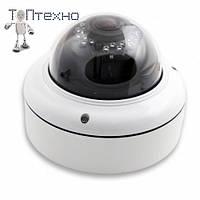 Цветная купольная IP камера LUX 2040-200, антивандальная купольная цветная камера,